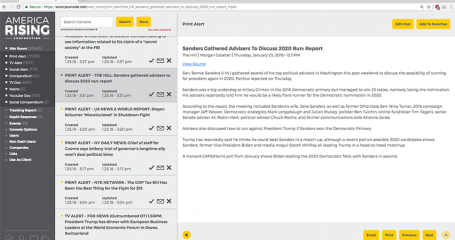 America Rising Corporation Unveils High-Powered News Database